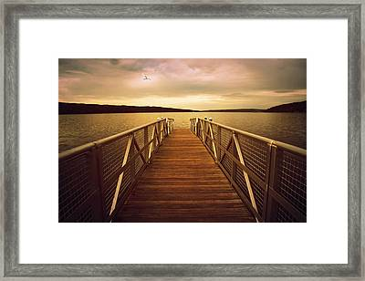 Sunset Horizon Framed Print