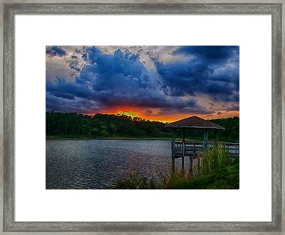 Framed Print featuring the photograph Sunset Huntington Beach State Park by Bill Barber
