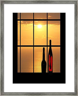 Framed Print featuring the photograph Sunset In Hawaii by Athala Carole Bruckner