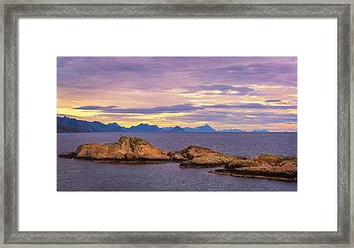 Sunset In The North Framed Print by Maciej Markiewicz