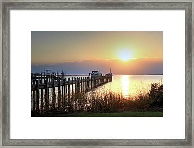 Sunset In The Obx Framed Print