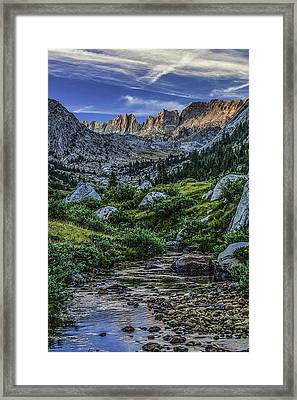 Sunset In The Upper Matterhorn Framed Print