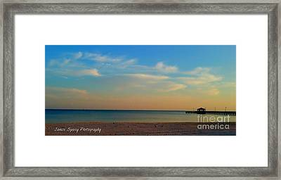 Sunset Framed Print by Janice Spivey