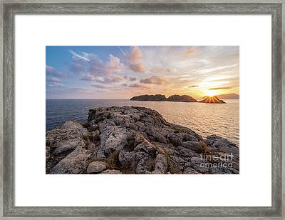Sunset Malgrats Islands Framed Print