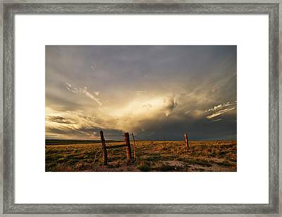 Sunset Near Santa Rosa New Mexico Framed Print