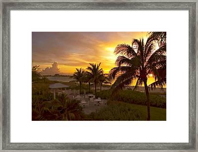 Sunset On Grace Bay Framed Print