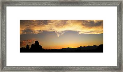 Sunset On Rademacher Framed Print by Mike Hill
