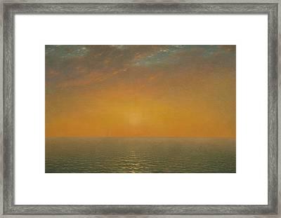 Sunset On The Sea Framed Print by John Frederick Kensett