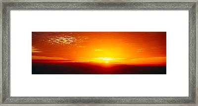 Sunset Over Channel Islands And Pacific Framed Print