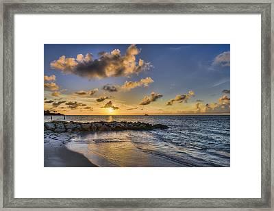 Sunset Over Dickenson Bay  St. John S Framed Print