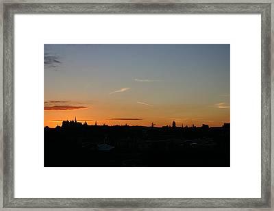 Sunset Over Edinburgh 2 Framed Print by Fraser McCulloch