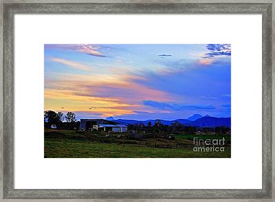 Sunset Over The Great Divide Framed Print
