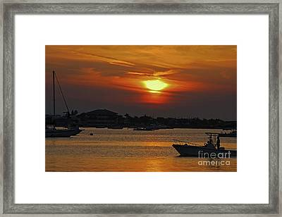 Framed Print featuring the photograph 1- Sunset Over The Intracoastal by Joseph Keane
