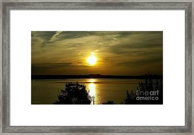Sunset Over The Potomac Framed Print