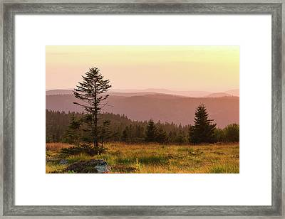 Sunset Framed Print by Paul MAURICE