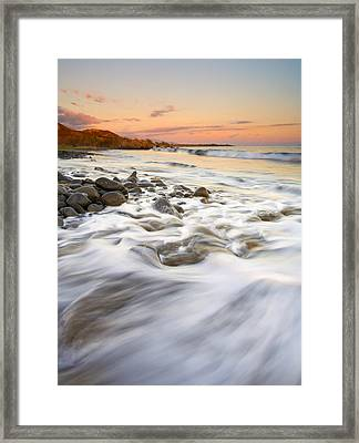 Sunset Tides Framed Print by Mike  Dawson