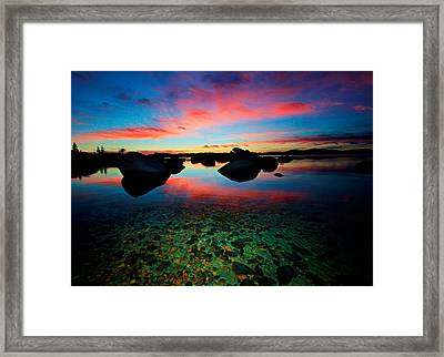 Sunset With A Whale Framed Print by Sean Sarsfield