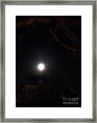 Super Moon 03.19.2011 Framed Print by Valia Bradshaw