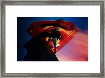 Supergirl Art Framed Print