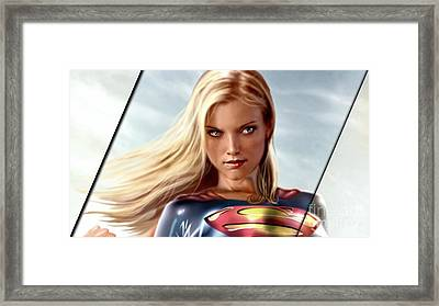 Supergirl Collection Framed Print