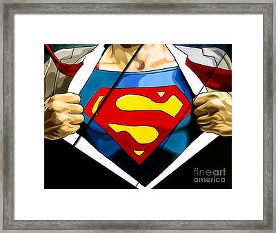 Superman Collection Framed Print