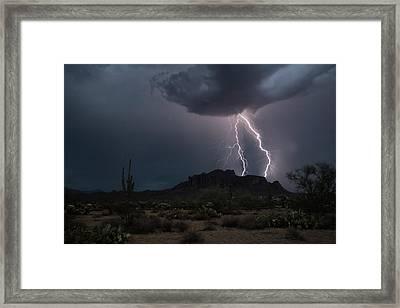 Superstition Lightning  Framed Print by Saija Lehtonen