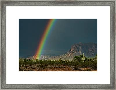 Framed Print featuring the photograph Superstition Rainbow  by Saija Lehtonen