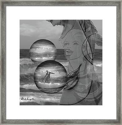 Superwoman And The Silver Surfer Framed Print