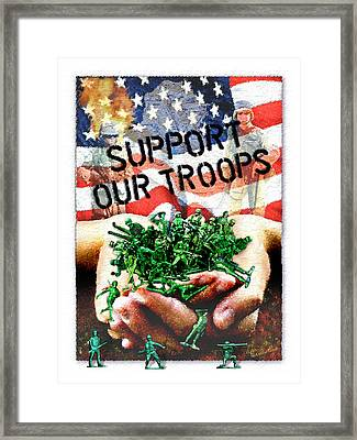 Support Our Troops Framed Print by Ernestine Grindal