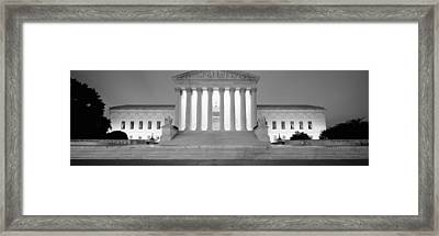 Supreme Court Building Illuminated Framed Print by Panoramic Images