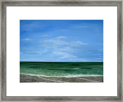 Framed Print featuring the painting Surf Lace by Ken Ahlering