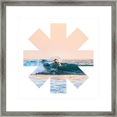 Surf Framed Print by Rhcp