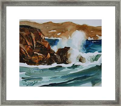 Framed Print featuring the painting Surf Study by Len Stomski