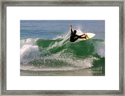 Surfer Framed Print by Carlos Caetano