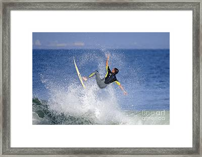 Surfer Framed Print by Marc Bittan