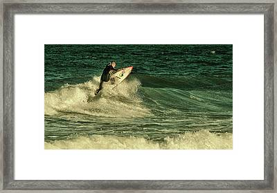 Surfing - Jersey Shore Framed Print