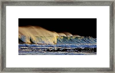 Surfing The Island #2 Framed Print by Blair Stuart