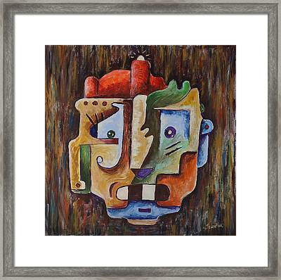 Surrealism Head Framed Print