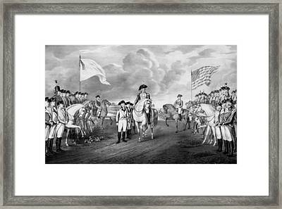 Surrender Of Lord Cornwallis At Yorktown Framed Print by War Is Hell Store