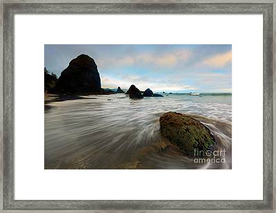 Surrounded By The Tides Framed Print by Mike Dawson