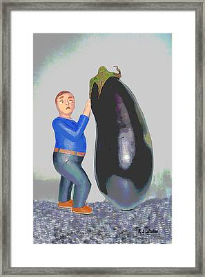 Suspicious Of Eggplants Framed Print