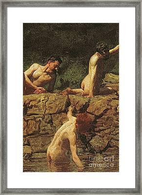 Swimming Hole Framed Print