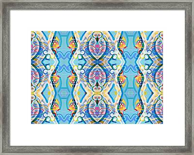 Swimming Framed Print by Ky Wilms