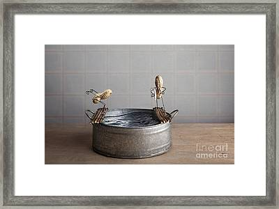 Swimming Pool Framed Print by Nailia Schwarz