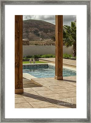 Swimming Pool With View Framed Print by Patricia Hofmeester
