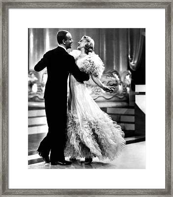 Swing Time, Fred Astaire, Ginger Framed Print