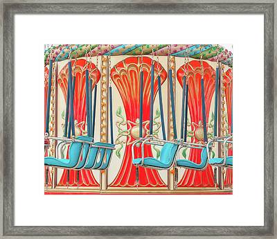 Swings Ride In Detail Framed Print by Erin Cadigan
