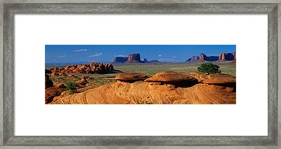 Swirling Sandstone Formations, Monument Framed Print by Panoramic Images