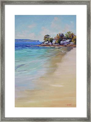 Sydney Harbour Beach Framed Print