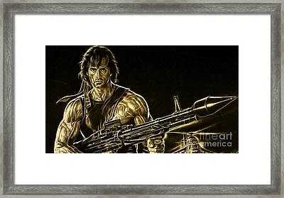 Sylvester Stallone Collection Framed Print by Marvin Blaine